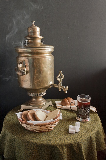 Antique Brass Russian Samovar