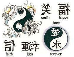 Chinese Tattoo Symbols Globerove Com