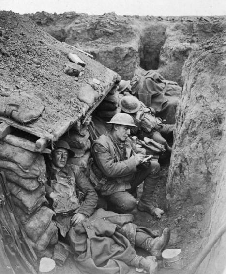 World War One Canadian Soldiers Life in the Trenches