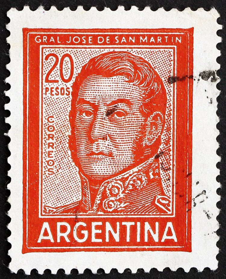 Latin America New Fashion Old Argentine Republic Stamp