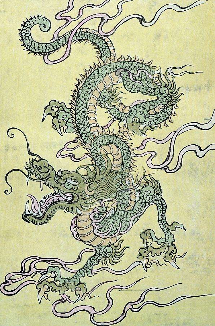 Chinese dragon paintings