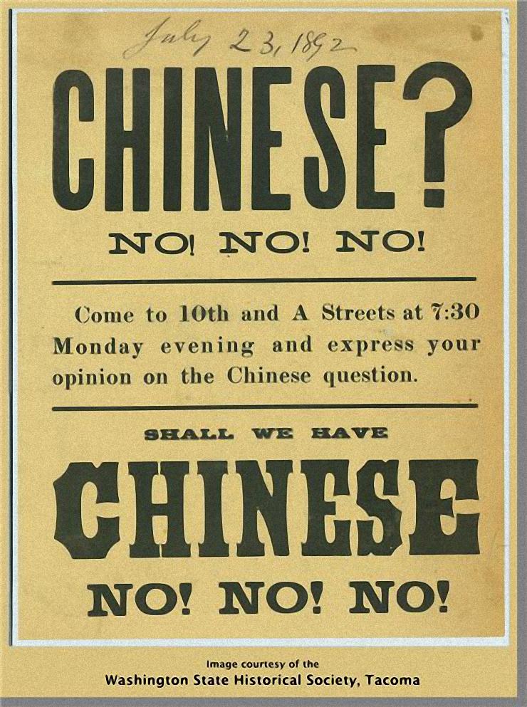 Anti-Chinese handbill