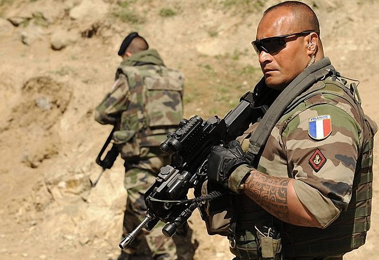 French Foreign Legion. (Photo credit should read SHAH MARAI/AFP/Getty Images)
