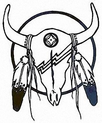 Skull Bull Indian Tattoo