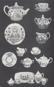 Pink luster tea sets