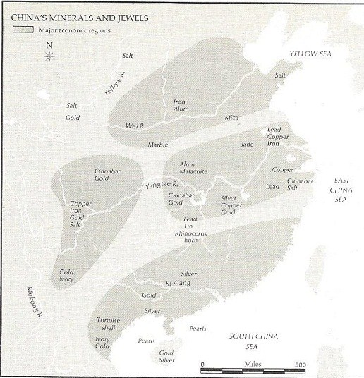 China's minerals and jewels resources