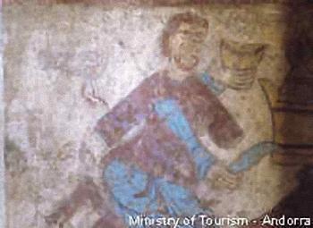 Fresco in the Church of Sant Marti, Andorra
